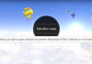 Flying Over France HTML5 Youtube Masthead Banner