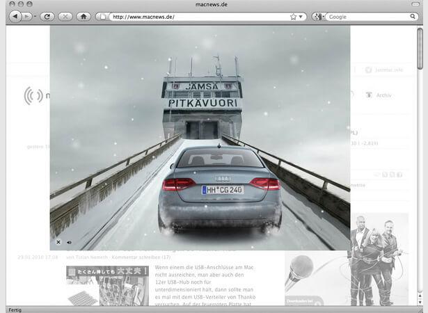 Audi quattro Sudden Motion Sensor Banner