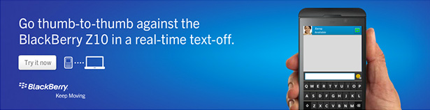Blackberry text challenge 01