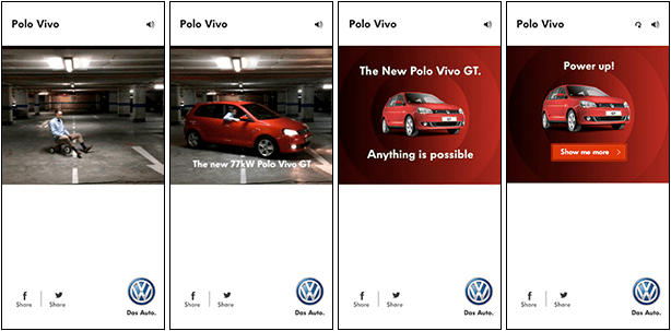 Volkswagen Polo Vivo Power Up Banners