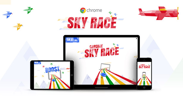 Chrome Sky Race bannergurus