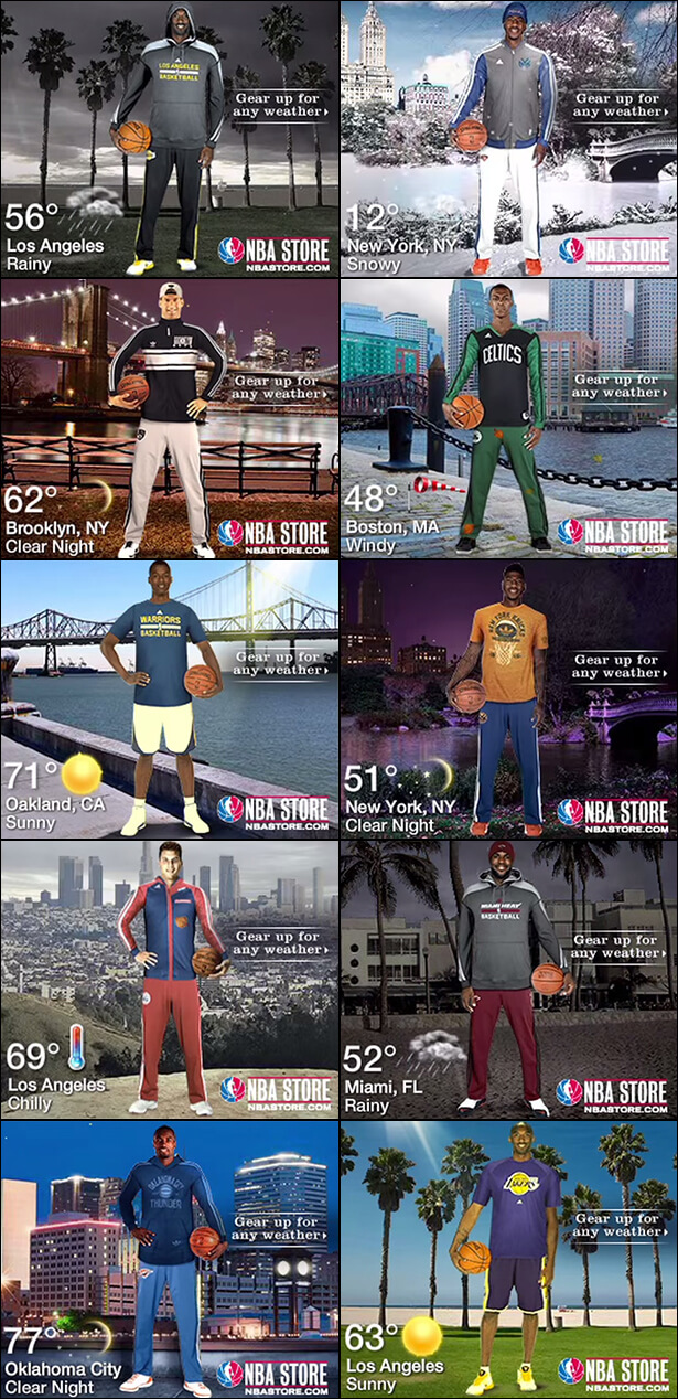 NBA store banners